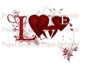 Digital download card - Valentines Love card