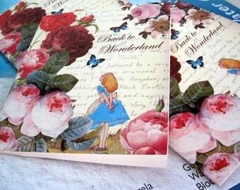 Alice in Wonderland - Mini note cards
