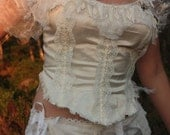 Customorder for Amanda Bridal Faerie silk top with corset lacing, created out of the stuff that dreams are made of
