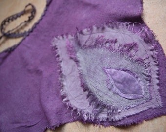 Purple Lotus unique festival clothing, burming man faerie costume wear