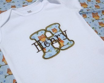 Baby Boy Clothes - Baby Boy Shirt - Baby Boy Gift - Baby Boy Initial Bodysuit