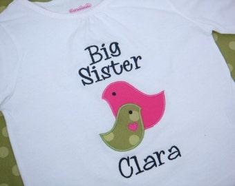 Big Sister Shirt - Big Sis Shirt - Big Sister to be Shirt - Big Sister Gift - 2 Birds Shirt