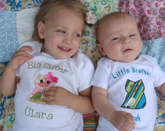 Personalized Sibling Shirts - Sibling Shirt Outfits - Big Sister Little Brother Shirts