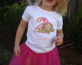Girl Birthday Shirt - Elephant Girls Birthday Shirt - Boys Birthday - Toddler Birthday Shirt - First Birthday