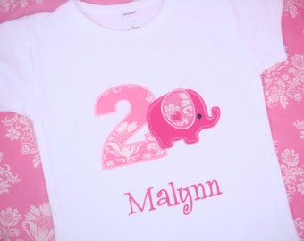 Girl Elephant Birthday Shirt - Toddler Girl Birthday Shirt - Boys Elephant Birthday - Baby Elepahant Birthday Shirt - First Birthday