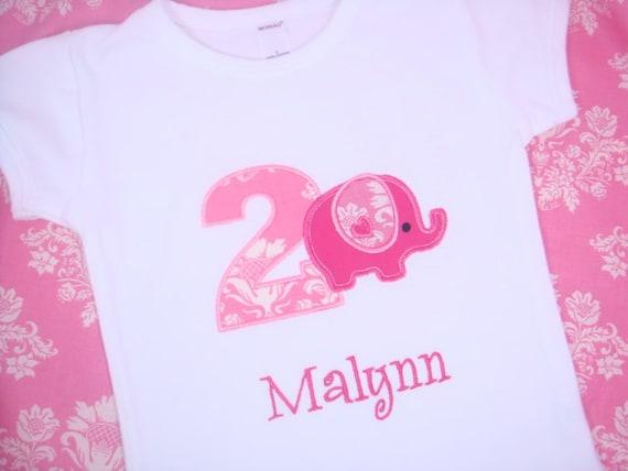 Girl Elephant Birthday Shirt - Toddler Girl Birthday Shirt - Boys Elephant Birthday - Baby Elepahant Birthday Shirt - First Birthday