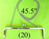 Discounted set of (20) 45.5 inch shoulder length nickel-free purse chain(TM)