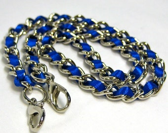 13 inch Nickel-free purse chain(TM) - Classic Blue