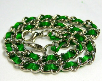 13 inch Nickel-free purse chain(TM) - Green Envy