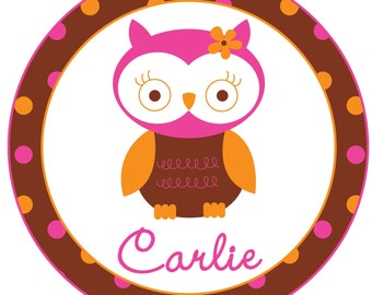 Personalized Owl Shirt or Bodysuit for a girl
