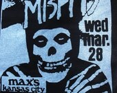 THE MISFITS max's kansas city shirt samhain horror punk danzig