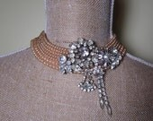 The Tenacious Understudy Faux Pearl and Rhinestone Collar