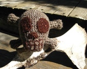 skull n crossbones stuffed toy - small