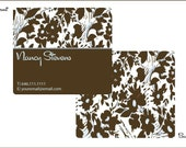 Floral Fancy Calling Cards - Set of 50