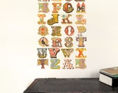 Alphabet Wall Decals (not vinyl) - Small, by Jeanie Nelson