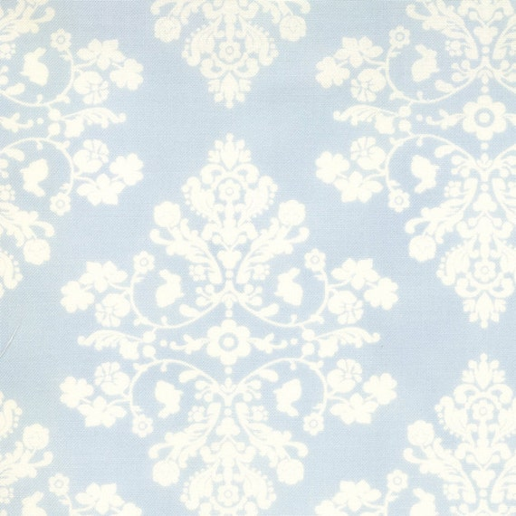 Custom Listing for Jane, September 5 - 3 yds Damask aqua blue LILY & WILL