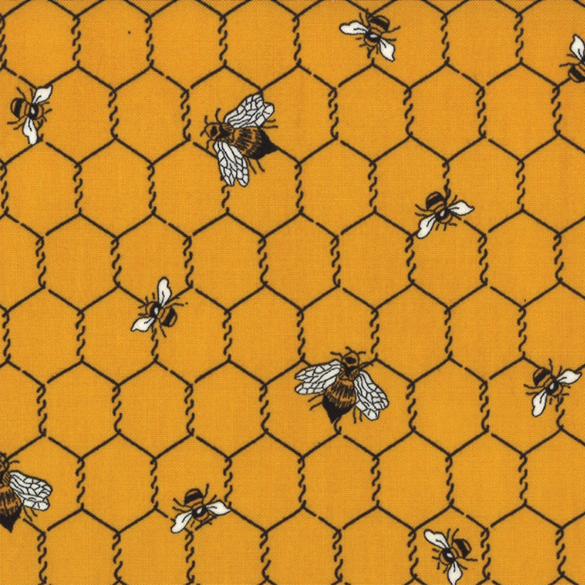 Beehive Honey Bee Moda Quilt Fabric French By Melodyoftheheart