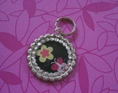 Pink Butterfly with Flower Pet ID Tag - Free Shipping