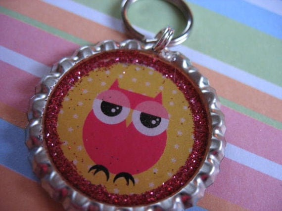 Cute Little Sleepy Owl Pet ID Tag -  FREE shipping to US