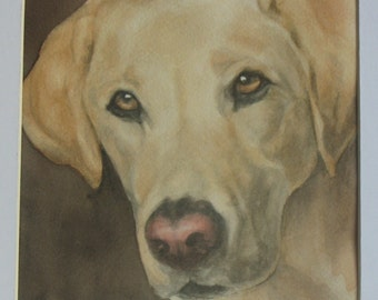 """6"""" x 6"""" CUSTOM Pet Portrait Painting, any pet from your photograph in watercolor"""