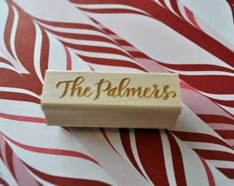 Custom Calligraphy Stationery Stamp - Palmer Lettering Style