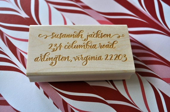 Custom Calligraphy Return Address Stamp - Jackson Lettering Style