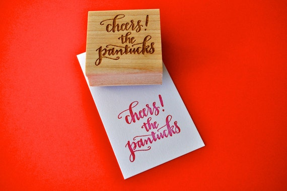 Custom Calligraphy Gift Tag Stamp (Small)