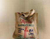 recycled rice basmati sack shopping bag tote bag