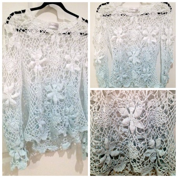 CLEARANCE /// Vintage Ombre Crochet Top