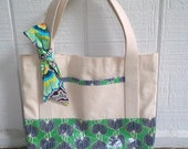 Market Tote Bag in Amy Butler Fabric