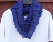 ON SALE - Purple Ruffle Infinity Scarf