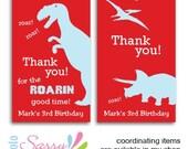 Printable Dinosaur party - personalized dinosaur favor tags