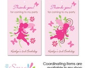Printable Fairy party- personalized printable favor tags