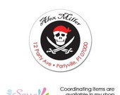 Custom Pirate address labels, pirate party