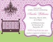 Baby Crib baby shower invitations, DIY printable