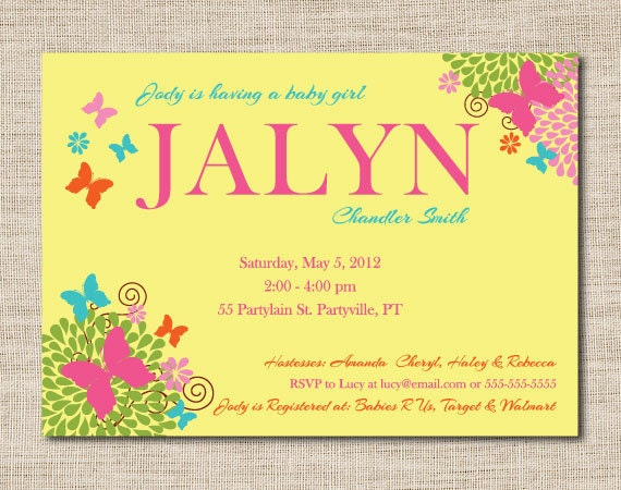 Baby Girl Invitation Wording with awesome invitation ideas