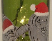 Holiday Lighted Wine Bottle / manatee