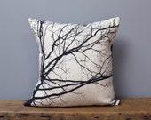 Autumn Morning Linen Pillowcase, Ready to Ship as Pictured