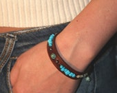 new design African turquoise leather bracelet