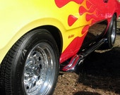 ON SALE - Flaming Classic Muscle Car Detail -  8x10 High Quality Photo Print