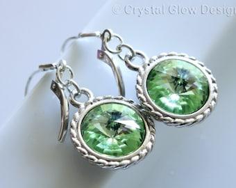 SALE 40% OFF - Swarovski Rivoli Crystal Earrings Silver Tone