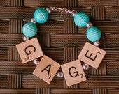 Scrabble Tile Bracelet