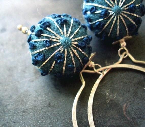 MOLECULAR BOND sterling silver earrings