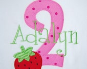 Personalized Birthday Girl T-Shirt with Strawberry, Design Your Own