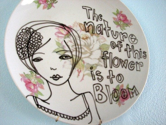 Original Illustration on plate The Nature of This Flower is to Bloom