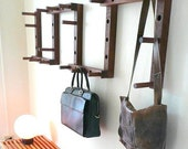 Thru-Block Wooden Coat Rack - 9 piece set