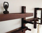 Thru - Block wooden coat rack- 7 piece vertical or horizontal pattern