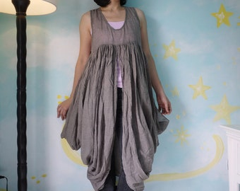 Butterfly -  Long Tanktop In Light Cotton Mix Polyester In Dusty  Brown