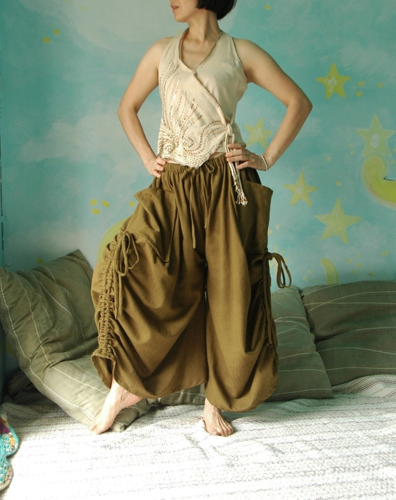 Love Me..Love Me Not  (Series IV)  - Steampunk ....2 in 1 Medium Weight Cotton Convertible Skirt /Pants