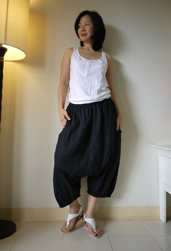 Enjoy Your Day - Azo Free Black Double Gauze Cotton... Unisex Pants